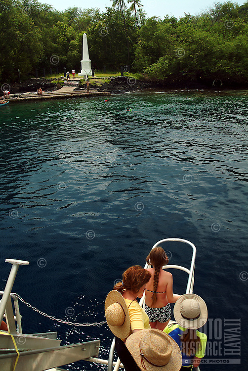 Fairwinds boat tour off the coastline of Kealakekua bay near the Captain Cook monument, were Cook was killed in 1779