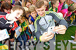 James O'Donoghue takes a selfie with Darren O'Leary Ballydesmond at Kerry GAA family day at Fitzgerald Stadium on Saturday.