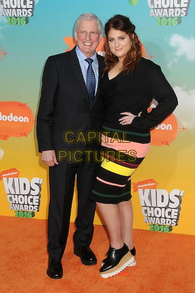 12 March 2016 - Inglewood, California - Gary Trainor, Meghan Trainor. 2016 Nickelodeon Kids' Choice Awards held at The Forum.  <br /> CAP/ADM/BP<br /> &copy;BP/ADM/Capital Pictures