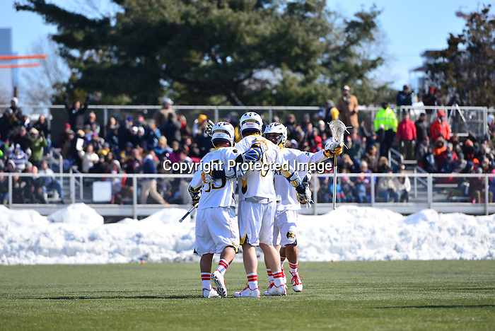 Philadelphia, Pa.  &ndash; Mark Cockerton's scored his second goal of the game with just 15 seconds remaining in regulation to give No. 7 Virginia an 11-10 win at Vidas Field. It was the third straight time the Cavaliers (3-0) have beaten the Dragons (0-1) by just one goal.<br /> <br /> The Dragons, playing in their season-opener trailed by as many as four goals in the second half before mounting a comeback. Nick Trizano scored an unassisted goal with 2:24 left in the third making it 9-6. Just over a minute later, Mason Pynn set up Cole Shafer for his second of the game cutting the lead to two. Shafer wasn't done for the day. The freshman scored the first two goals of the fourth quarter, the latter on a feed from T.J. Foley, to even the contest at 9-9 with 8:49 to play.<br /> <br /> Both goalkeepers kept their teams in the game in the fourth period. Matt Barrett made four fourth quarter saves for Virginia, while Cal Winkleman turned aside five shots for the Dragons. Cockerton put Virginia up 10-9 with 2:56 to play with an unassisted tally, but again Drexel would answer. This time, Hank Brown fed Trizano as he came from behind the net, and the senior scored his fourth goal of the game to tie it with 1:57 remaining.<br /> <br /> Drexel had possession but turned the ball over in the final minute, setting the stage for Cockerton's game-winner. On the play, Drexel's Ben McIntosh was whistled for a trip, so the Dragons would face-off with a man-down. Nick Saputo won the draw and raced towards the cage. His bounce shot was saved by Barrett with six seconds remaining. The clock stopped with just three seconds left as Virginia was penalized, but the Dragons were unable to get a shot before time expired as the Cavaliers defeated Drexel for the seventh straight time.<br />  <br /> Drexel led 5-3 but Virginia closed the half with three straight goals to take a 6-5 lead at intermission.