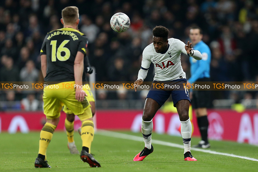 Ryan Sessegnon of Tottenham Hotspur and James Ward-Prowse of Southampton during Tottenham Hotspur vs Southampton, Emirates FA Cup Football at Tottenham Hotspur Stadium on 5th February 2020