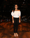 "Gabby Sorrentino during the Q & A before The Rockefeller Foundation and The Gilder Lehrman Institute of American History sponsored High School student #EduHam matinee performance of ""Hamilton"" at the Richard Rodgers Theatre on 5/22/2019 in New York City."