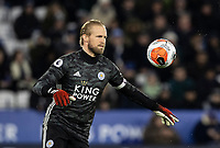 Leicester City's Kasper Schmeichel <br /> <br /> Photographer Andrew Kearns/CameraSport<br /> <br /> The Premier League - Leicester City v Aston Villa - Monday 9th March 2020 - King Power Stadium - Leicester<br /> <br /> World Copyright © 2020 CameraSport. All rights reserved. 43 Linden Ave. Countesthorpe. Leicester. England. LE8 5PG - Tel: +44 (0) 116 277 4147 - admin@camerasport.com - www.camerasport.com