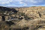 Limestone desert landscape, Paraje Natural de Karst en Yesos, Sorbas, Almeria, Spain