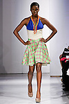 Model walks the runway in an outfit by Lisa Lindauer for her Lil Lucy Spring 2012 collection, during BK Fashion Weekend Spring Summer 2012.