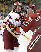 Matt Lombardi (BC - 24), Jack Christian (Harvard - 5) - The Boston College Eagles defeated the Harvard University Crimson 6-0 on Monday, February 1, 2010, in the first round of the 2010 Beanpot at the TD Garden in Boston, Massachusetts.