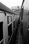 Passenger on Footbridge at Goathland (Aidensfield) Railway Station