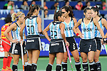 The Hague, Netherlands, June 10: Players of Argentina wait for the umpires desicion during the field hockey group match (Women - Group B) between Argentina and China on June 10, 2014 during the World Cup 2014 at GreenFields Stadium in The Hague, Netherlands. Final score 1-1 (yy-yy) (Photo by Dirk Markgraf / www.265-images.com) *** Local caption *** Macarena Rodriguez Perez #5 of Argentina, Maria Josefina Sruoga #30 of Argentina, Gisele Juarez #22 of Argentina, Mariana Rossi #2 of Argentina, Martina Cavallero #7 of Argentina, Noel Barrionuevo #27 of Argentina