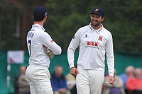 Nick Browne (R) of Essex during Surrey CCC vs Essex CCC, Specsavers County Championship Division 1 Cricket at Guildford CC, The Sports Ground on 9th June 2017