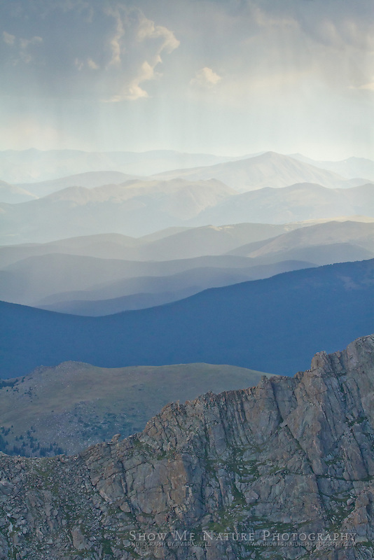 Incoming storm on Mount Evans
