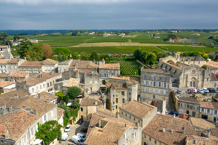 St. Emillion, a wine growing region in France, Europe