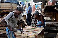 Indian men making packing box in Kolkata, West Bengal, India, 2009, Arindam Mukherjee