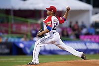 9 March 2009: #45 Ian Snell of Puerto Rico pitches against Netherlands during the 2009 World Baseball Classic Pool D game 4 at Hiram Bithorn Stadium in San Juan, Puerto Rico. Puerto Rico wins 3-1 over Netherlands