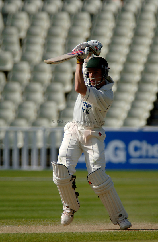 Photo. Glyn Thomas. .Warwickshire v Middlesex. 29/04/2005..Frizzell County Championship Division 1. Day 3..Middlesex's Ben Hutton.
