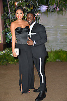 Kevin Hart &amp;  Eniko Parrish at the Los Angeles premiere of &quot;Jumanji: Welcome To the Jungle&quot; at the TCL Chinese Theatre, Hollywood, USA 11 Dec. 2017<br /> Picture: Paul Smith/Featureflash/SilverHub 0208 004 5359 sales@silverhubmedia.com