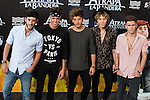 Music band Auryn attends to the photocall during the premiere of &quot;Atrapa la Bandera&quot; at Kinepolis Cinema in Madrid, August 26, 2015. <br /> (ALTERPHOTOS/BorjaB.Hojas)