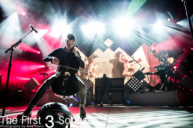 Brent Kutzle of OneRepublic performs at the Lifestyle Communities Pavilion in Columbus, Ohio.