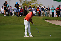Victor Dubuisson (FRA) on the 9th during Round 4 of the Saudi International at the Royal Greens Golf and Country Club, King Abdullah Economic City, Saudi Arabia. 02/02/2020<br /> Picture: Golffile | Thos Caffrey<br /> <br /> <br /> All photo usage must carry mandatory copyright credit (© Golffile | Thos Caffrey)