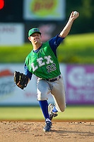 Lexington Legends starting pitcher Crawford Simmons (22) in action against the Kannapolis Intimidators at CMC-Northeast Stadium on July 29, 2013 in Kannapolis, North Carolina.  The Intimidators defeated the Legends 10-5.  (Brian Westerholt/Four Seam Images)