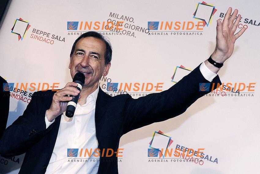 Giuseppe Sala<br /> Milano 19-06-2016 Elezioni comunali 2016 ballottaggio.  Festeggiamenti a Palazzo Marino<br /> foto Daniele Buffa/Image/Insidefoto