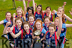 Castleisland Presentation Captain Kayla O'Connor and her team mates celebrate after winning the All Ireland final on Sunday team mates are Marlyn Cahill,  Kayla O'Connor, Aine Sheehan, Brid Moriarty, Aiva Herbert, Joyce O'Connor, Orla O'Sullivan, Gemma Kearney and Clodagh O'Connor