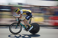 Laurens ten Dam (NLD/LottoNL-Jumbo) during the stage 1 prologue recon in Utrecht (13.8km)<br /> <br /> Tour de France 2015