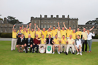 during the AIG Jimmy Bruen Shield Semi-Final between Strabane &amp; Waterford in the AIG Cups &amp; Shields at Carton House on Friday 19th September 2014.<br /> Picture:  Thos Caffrey / www.golffile.ie