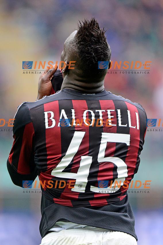 Mario Balotelli Milan<br /> Milano 01-05-2016 Stadio Giuseppe Meazza - Football Calcio Serie A Milan - Frosinone. Foto Giuseppe Celeste / Insidefoto