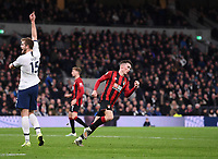 30th November 2019; Tottenham Hotspur Stadium, London, England; English Premier League Football, Tottenham Hotspur versus AFC Bournemouth; Harry Wilson of Bournemouth celebrates scoring his second goal in 90th minute 3-2 - Strictly Editorial Use Only. No use with unauthorized audio, video, data, fixture lists, club/league logos or 'live' services. Online in-match use limited to 120 images, no video emulation. No use in betting, games or single club/league/player publications