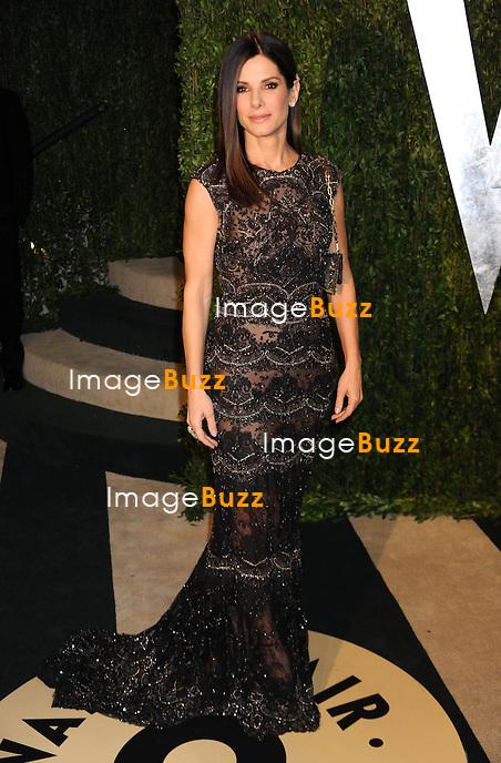 2/24/13.Sandra Bullock at the Vanity Fair Oscar Party..(West Hollywood, CA).