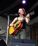 May 3, 2019 New Orleans, La: Singer/Songwriter/Musician Ani DiFranco performs at the 50th Anniversary of the New Orleans Jazz & Heritage Festival on May 3, 2019 in New Orleans, La