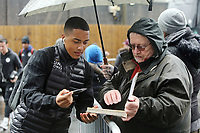 Leicester City players sign autographs of the waiting fans as they arrive at Turf Moor ahead of kick-off<br /> <br /> Photographer Rich Linley/CameraSport<br /> <br /> The Premier League - Burnley v Leicester City - Saturday 16th March 2019 - Turf Moor - Burnley<br /> <br /> World Copyright © 2019 CameraSport. All rights reserved. 43 Linden Ave. Countesthorpe. Leicester. England. LE8 5PG - Tel: +44 (0) 116 277 4147 - admin@camerasport.com - www.camerasport.com