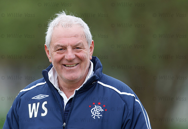 Walter Smith has a laugh to himself