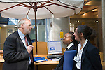 Dr Jean-Pierre Droz, Oncology unit, Centre Leon Berard, Lyon, France.The doctor with Souhir Mecellem and Elietta Corbis and the accuel, the reception of the hospital.