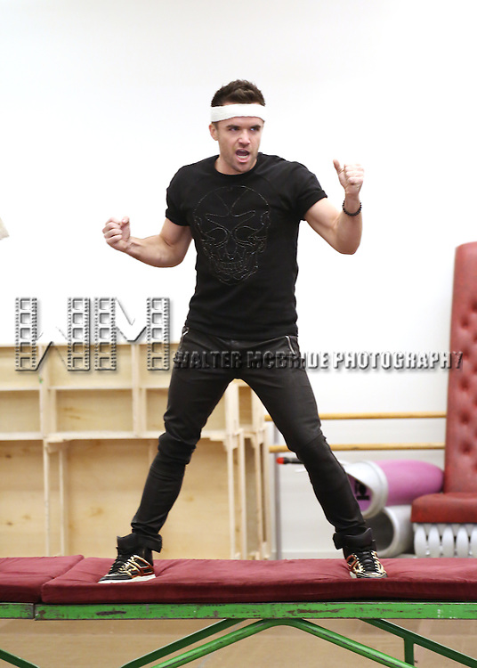 Brian Justin Crum attends the 'We Will Rock You' North America Tour Rehearsals at The New 42nd Street Studios on September 23, 2013 in New York City.