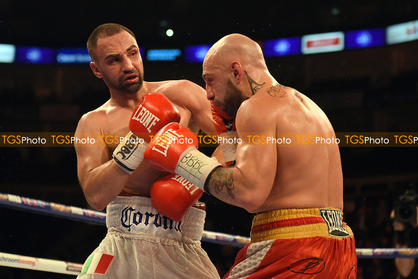 Paul Malignaggi (white shorts) defeats Antonio Moscatiello to win the vacant EBU Welterweight Title at the O2 Arena, London