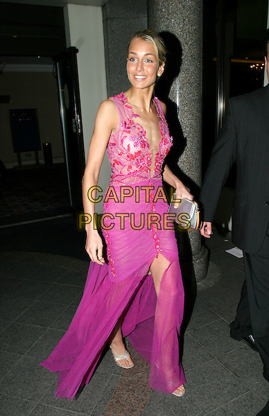 LADY ISABELLA HERVEY.Breathing Life Awards - Presented By The Cystic Fibrosis Trust. Royal Lancaster Hotel, London.April 29th, 2004.full length, full-length, pink dress, plunging neckline.www.capitalpictures.com.sales@capitalpictures.com.© Capital Pictures.