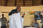 Forest Whitaker Peace and Developpement workshop at Hope North, june 20, 2014, Uganda.
