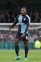 Aaron Pierre of Wycombe Wanderers during the Sky Bet League 2 match between Wycombe Wanderers and Luton Town at Adams Park, High Wycombe, England on 6 February 2016. Photo by Andy Rowland.