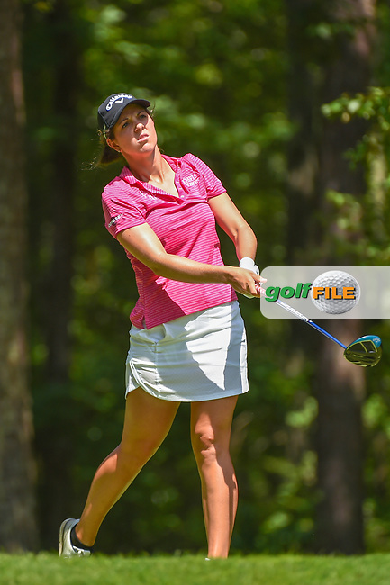 Emma Talley (USA) watches her tee shot on 2 during round 4 of the U.S. Women's Open Championship, Shoal Creek Country Club, at Birmingham, Alabama, USA. 6/3/2018.<br /> Picture: Golffile | Ken Murray<br /> <br /> All photo usage must carry mandatory copyright credit (© Golffile | Ken Murray)