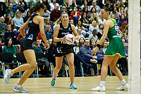 20.01.2019 Silver Ferns in action during the Silver Ferns v South Africa netball test match at the Copper Box Arena, London. Mandatory Photo Credit ©Michael Bradley Photography/Ben Queenborough.20.01.2019 Gina Crampton of the Silver Ferns  during the Silver Ferns v South Africa netball test match at the Copper Box Arena, London. Mandatory Photo Credit ©Michael Bradley Photography/Ben Queenborough.