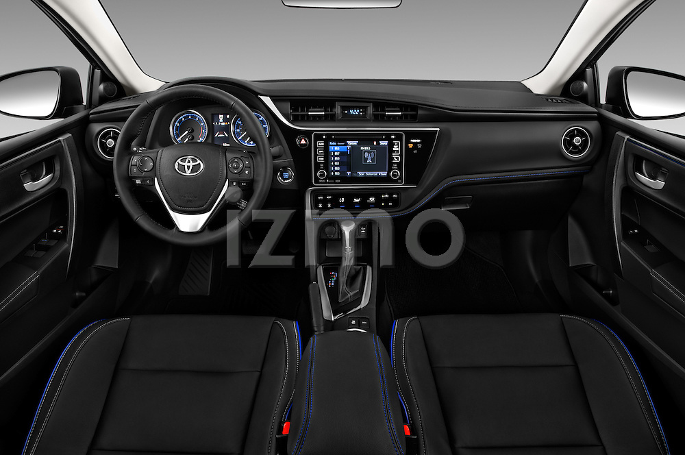 Stock photo of straight dashboard view of 2018 Toyota Corolla XSE-AT 4 Door Sedan Dashboard