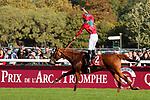 October 06, 2019, Paris (France) - Waldgeist (2) with Pierre-Charles Boudot up wins the Prix de l'Arc de Triomphe (Gr I) on October 6 in ParisLongchamp. [Copyright (c) Sandra Scherning/Eclipse Sportswire)]
