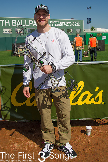 Chase Rice attends the ACM & Cabela's Great Outdoor Archery Event during the 50th Academy Of Country Music Awards at the Texas Rangers Youth Ballpark on April 18, 2015 in Arlington, Texas.