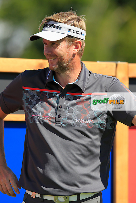 David LYNN (ENG) waits to tee off the 14th tee during Saturday's Round 3 of the 2014 Omega European Masters held at the Crans Montana Golf Club, Crans-sur-Sierre, Switzerland.: Picture Eoin Clarke, www.golffile.ie: 6th September 2014