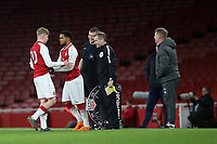 Trae Coyle of Arsenal replaces Emile Smith Rowe in the second half during Arsenal Youth vs Blackpool Youth, FA Youth Cup Football at the Emirates Stadium on 16th April 2018