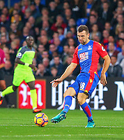 James McArthur of Crystal Palace during the EPL - Premier League match between Crystal Palace and Liverpool at Selhurst Park, London, England on 29 October 2016. Photo by Steve McCarthy.