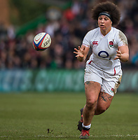 England Women's Shaunagh Brown in action during todays match<br /> <br /> Photographer Bob Bradford/CameraSport<br /> <br /> 2020 Women's Six Nations Championship - England v Wales - Saturday 7th March 2020 - The Stoop - London<br /> <br /> World Copyright © 2020 CameraSport. All rights reserved. 43 Linden Ave. Countesthorpe. Leicester. England. LE8 5PG - Tel: +44 (0) 116 277 4147 - admin@camerasport.com - www.camerasport.com