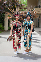 Aztec Native American Women, NW Folklife Festival, Seattle, WA, USA.