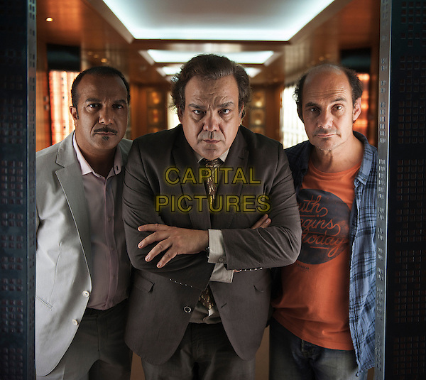 Pascal Legitimus, Didier Bourdon, Bernard Campan<br /> in Les trois freres, le retour (2014) <br /> *Filmstill - Editorial Use Only*<br /> CAP/NFS<br /> Image supplied by Capital Pictures